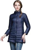 Jackcsale Women's Midlong Packable Ultra Light Down Jacket Down Coat Puffer