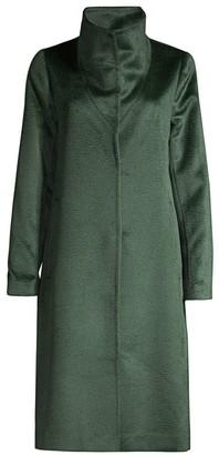 Eileen Fisher High Collar Alpaca-Wool Blend Coat
