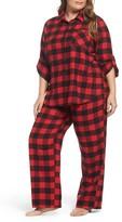 Make + Model Plus Size Women's Flannel Pajamas