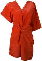 Jil Sander v-neck tunic - women - Polyester/Viscose - 36