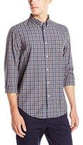 Lacoste Men's Seg 1 Long Sleeve Medium Plaid Poplin