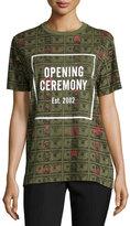 Opening Ceremony Short-Sleeve Money Jersey Tee, Cash Green