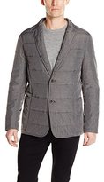 DKNY Men's Horizontal Quilted Melange Blzr