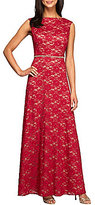 Alex Evenings Petite Embellished Waist A-Line Lace Dress