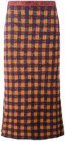 Miu Miu checked knitted skirt
