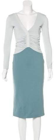 Altuzarra Long Sleeve Sheath Dress