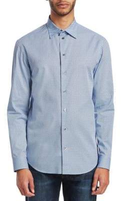 Emporio Armani Circle Print Button-Down Shirt