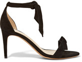 Alexandre Birman Patty Bow-embellished Suede Sandals - Black