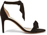 Alexandre Birman Patty Bow-embellished Suede Sandals - Black