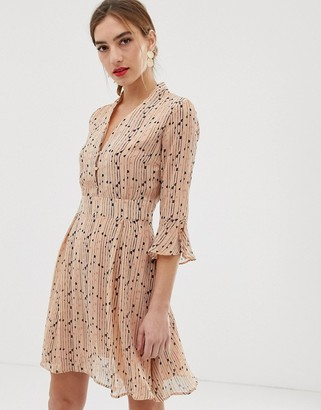 Y.A.S spotted skater dress