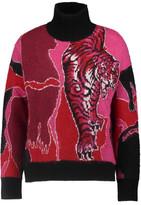 Just Cavalli Intarsia-Knit Turtleneck Sweater