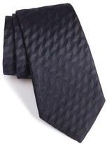 Armani Collezioni Shadow Herringbone Silk Tie