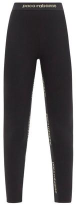 Paco Rabanne Logo-jacquard Jersey Leggings - Black Multi