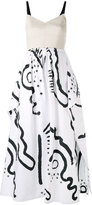 Isa Arfen printed midi dress - women - Cotton/Linen/Flax/Spandex/Elastane - 8