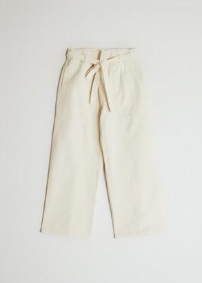 Farrow Women's Franzia Tie Waist Denim Pant in Natural, Size Extra Small | 100% Cotton