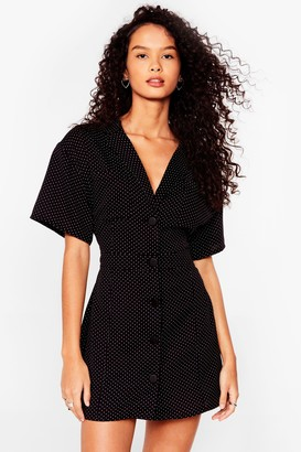 Nasty Gal Womens Ain't No Spotting Us Now Mini Shirt Dress - Black - 6