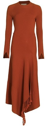 Jonathan Simkhai Penelope Draped Open-Back Knit Dress