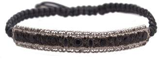 Armenta New World Sterling Silver Black Sapphire Cord Pull Bracelet