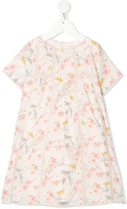 Bonpoint Lace-Trimmed Floral-Print Dress