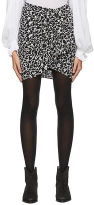 Etoile Isabel Marant Black and Grey Sky Miniskirt