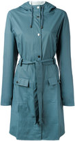 Rains belted coat - women - Polyester/Polyurethane - XXS