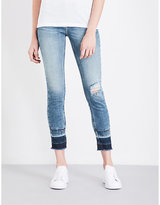 Calvin Klein Distressed skinny mid-rise jeans