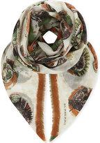 Burberry Multi-tonal cotton scarf