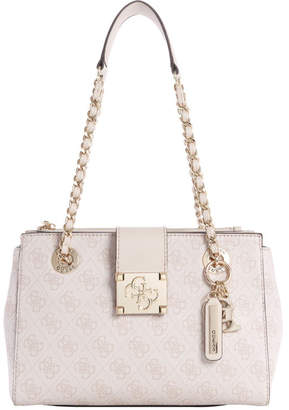 GUESS SG747608MOTIDDB Logo City Double Handle Tote Bag