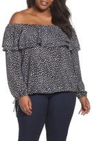 MICHAEL Michael Kors Plus Size Women's Cheetah Print Off The Shoulder Top