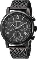Wenger Men's 'Urban Classic Chrono' Swiss Quartz Stainless Steel Casual Watch, Color:Grey (Model: 01.1043.108)