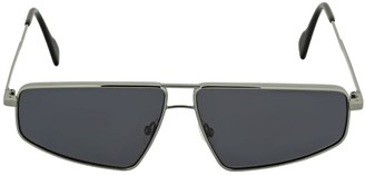 Andy Wolf Sterling Squared Metal Sunglasses