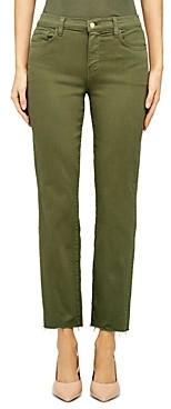 L'Agence Sada Cropped Straight Jeans