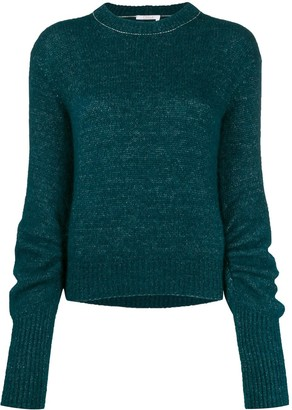Chloé ruched sleeve knitted jumper