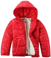 XiaoYouYu Little Boy's Cotton Padded Fit & Zip Pockets Outerwear Coats US Size 3T