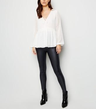 New Look Maternity Leather-Look Leggings