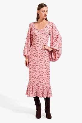 STAUD Lara Dress | Blush Mushroom