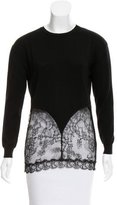 No.21 No. 21 Lace-Accented Wool Top