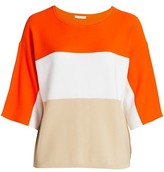Thumbnail for your product : Joan Vass, Plus Size Tri-Color Knit Sweater