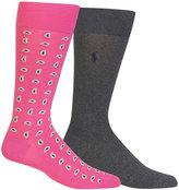 Polo Ralph Lauren Men's Paisley Dress Socks, 2-Pack