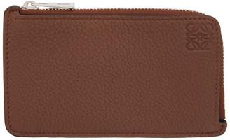 Loewe Brown Zip Cardholder