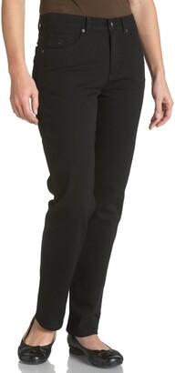 Gloria Vanderbilt Women's Amanda Petite Straight Leg Jean In Black