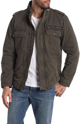 Levi's Hooded Canvas Military Jacket