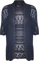 WearAll Women's Plus Knit Crochet Short Sleeve Open Cardigan - US 20-22 (UK 24-26)