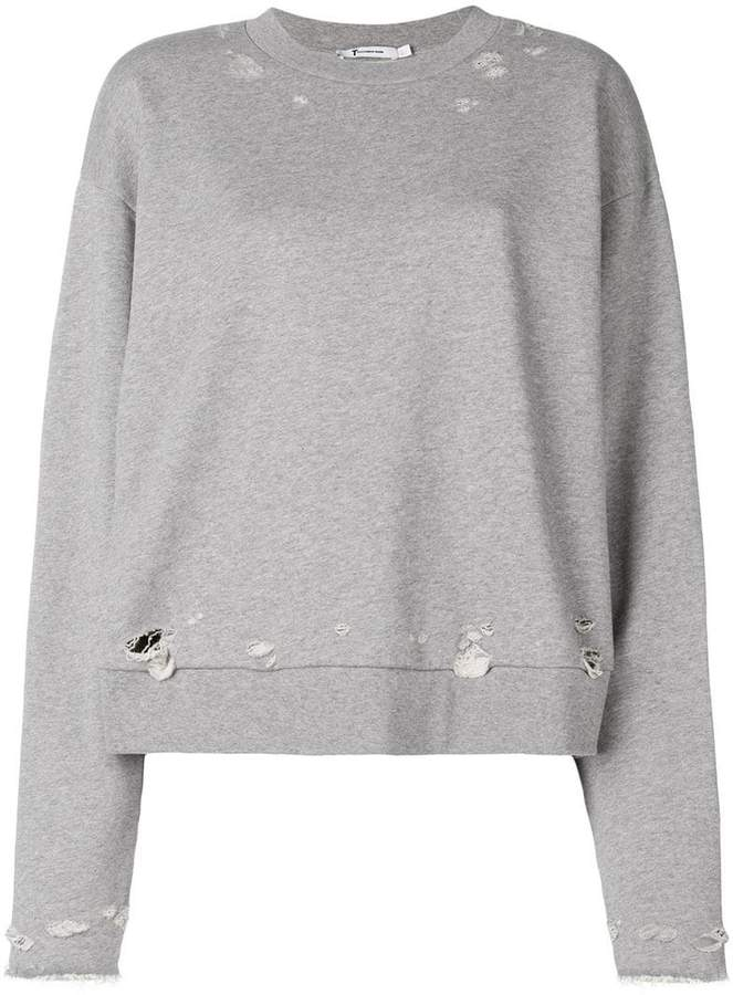 Alexander Wang distressed sweatshirt