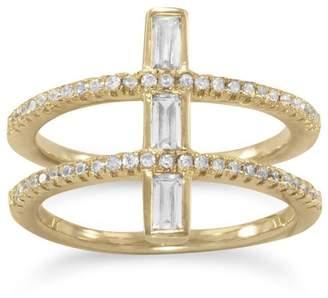 Mma Silver Double Cross Ring