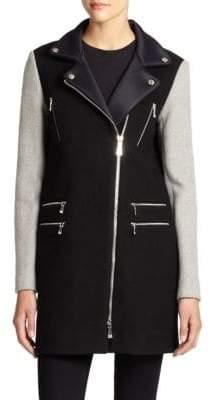 Dawn Levy Alix Wool Scuba Coat