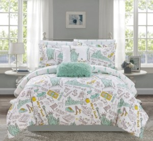 Chic Home Liberty 9 Piece Queen Bed In a Bag Comforter Set Bedding