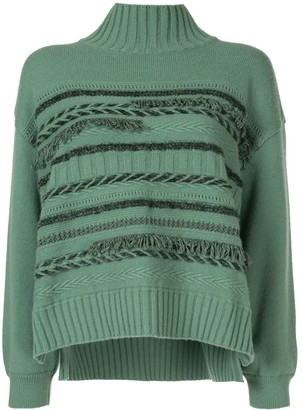 Coohem Fringed Roll-Neck Jumper