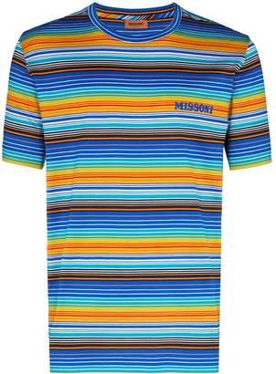 Missoni striped logo print T-shirt