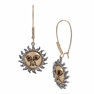 Betsey Johnson Celestial Sun Dangle Earrings